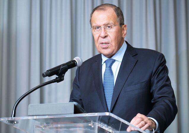 Ruský ministr zahraničí Sergej Lavrov v sídle OSN v New Yorku