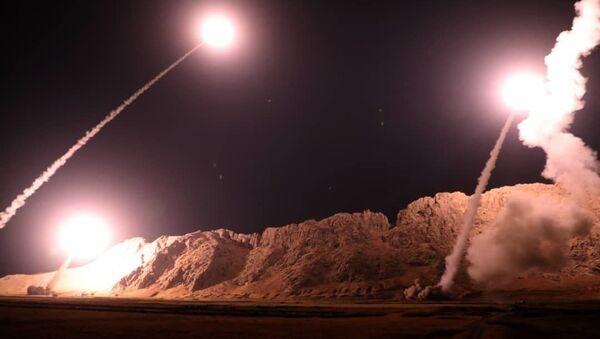 Raketový útok Íránu na teroristy v Sýrii - Sputnik Česká republika