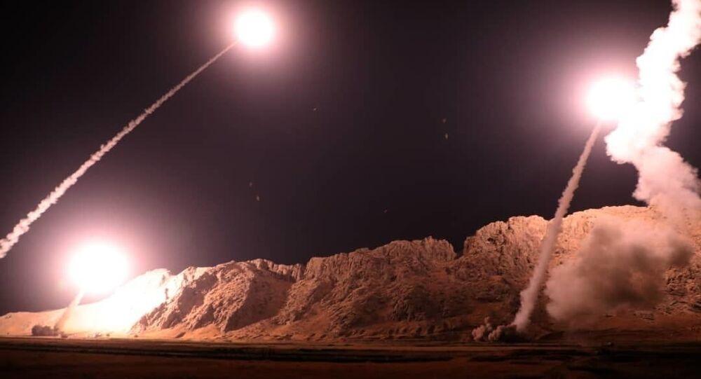 Raketový útok Íránu na teroristy v Sýrii