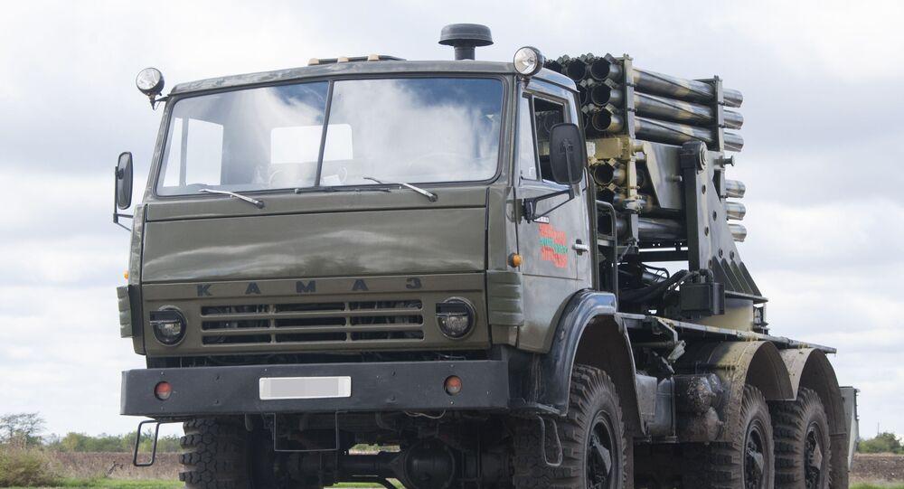 Nová verze BM-21 Grad, která byla vyrobena v Podněstří