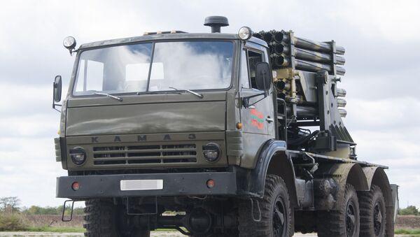 Nová verze BM-21 Grad, která byla vyrobena v Podněstří - Sputnik Česká republika