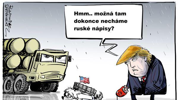 Donald Trump karikatura - Sputnik Česká republika