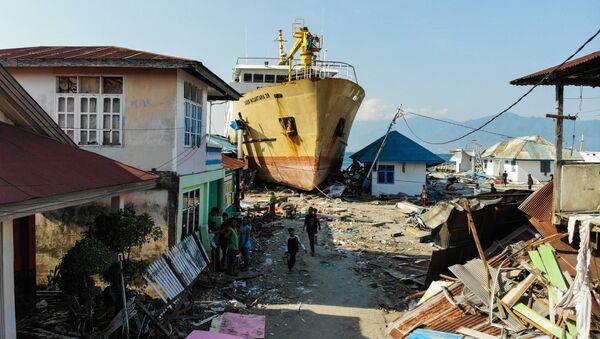 Následky tsunami a zemětřesení v Indonésii - Sputnik Česká republika