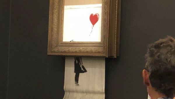 Obraz Banksyho Dívka s červeným balónkem (Láska v koši) - Sputnik Česká republika