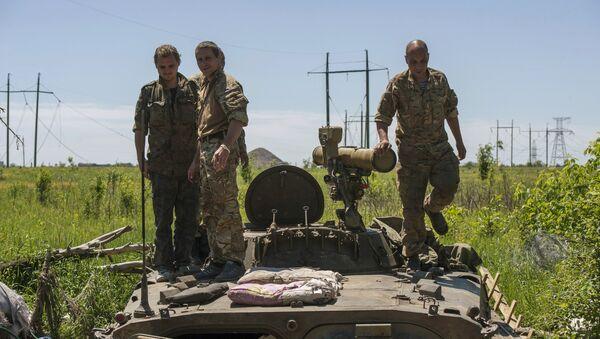 Příslušníci ukrajinské armády u Horlivky. Ilustrační foto - Sputnik Česká republika