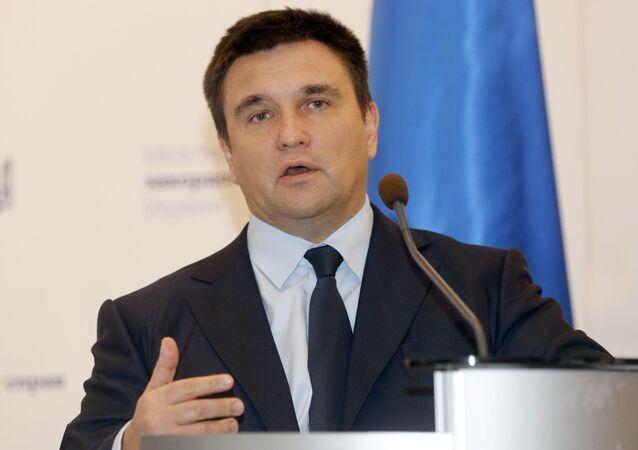 Ukrajinský ministr zahraničí Pavlo Klimkin