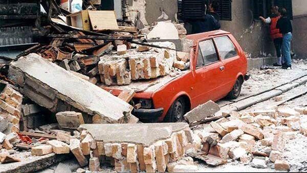 Ulice Bělehradu po bombardování NATO, 1999 - Sputnik Česká republika
