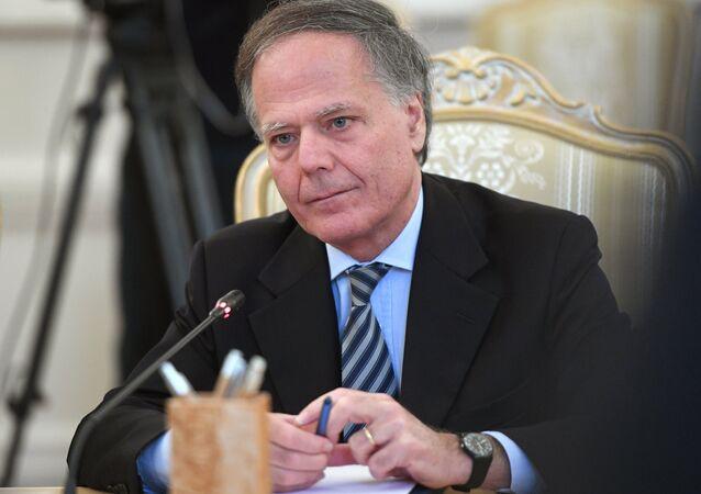 Italský ministr zahraničí Enzo Moavero Milanesi