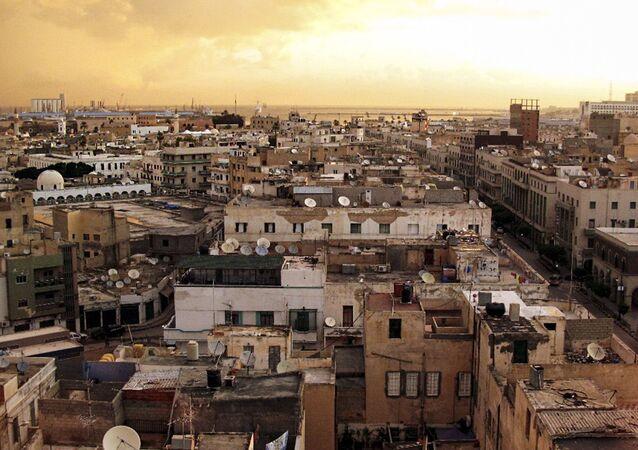 Pohled na Tripolis v Libyi