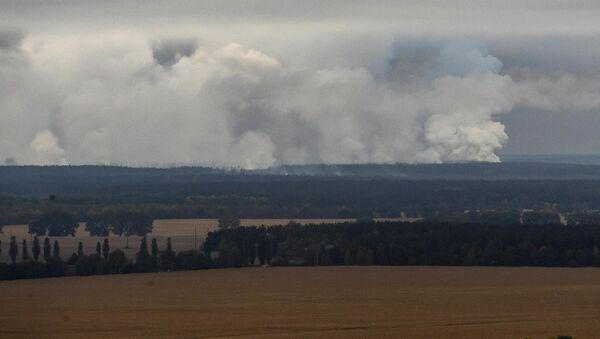 Požár v Černihivě - Sputnik Česká republika