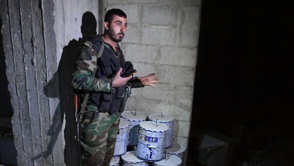 Chemické zbraně syrských ozbrojenců. Ilustrační foto - Sputnik Česká republika
