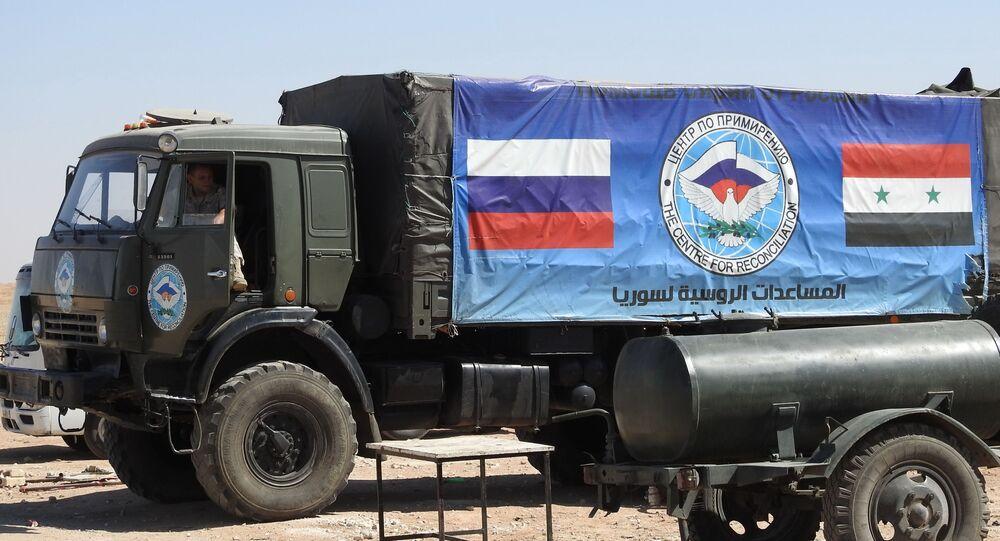 Ruská humanitární pomoc v Sýrii. Ilustrační foto