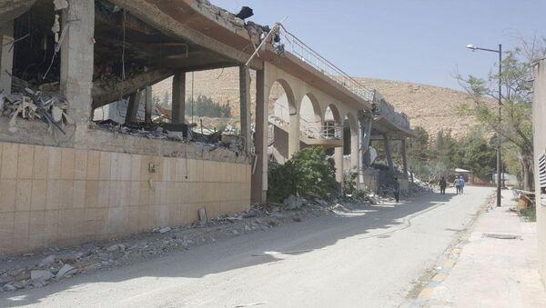 Výzkumné středisko v Sýrii, které vybombardovala koalice - Sputnik Česká republika