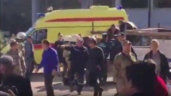 Výbuch v průmyslové střední škole v Kerči - Sputnik Česká republika