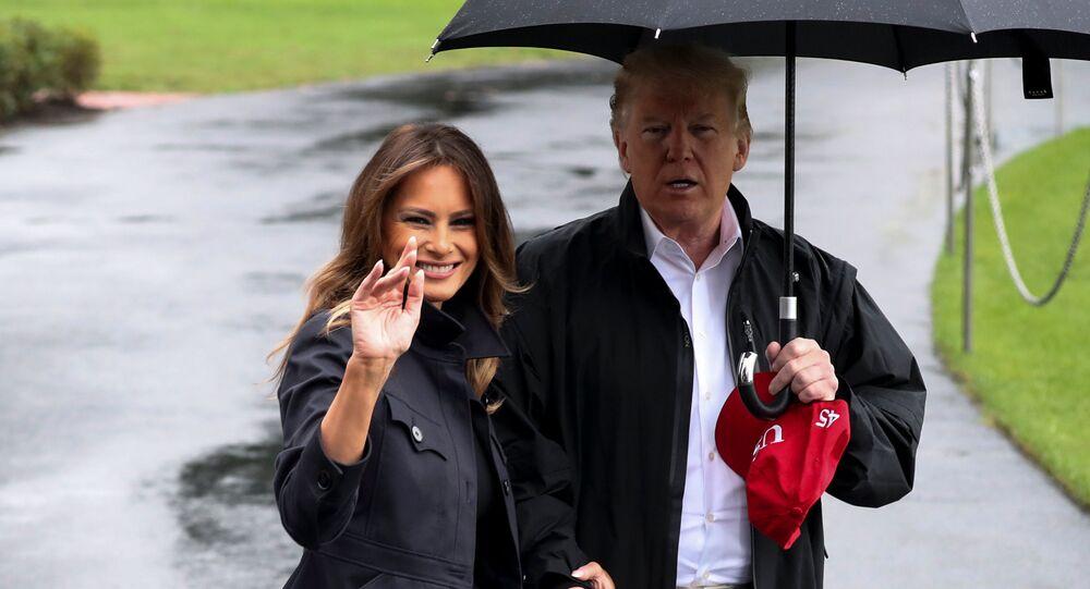 Americký prezident Donald Trump a jeho žena Melania