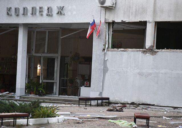 Budova kerčské školy, kde došlo k útoku na studenty