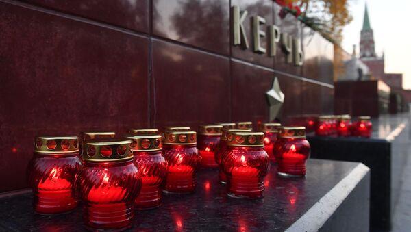 Krymská tragédie. Smuteční akce na počest obětí útoku v kerčské škole - Sputnik Česká republika
