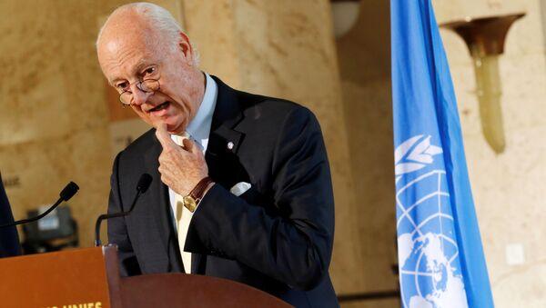 Zvláštní zástupce generálního tajemníka OSN pro Sýrii Staffan de Mistura - Sputnik Česká republika