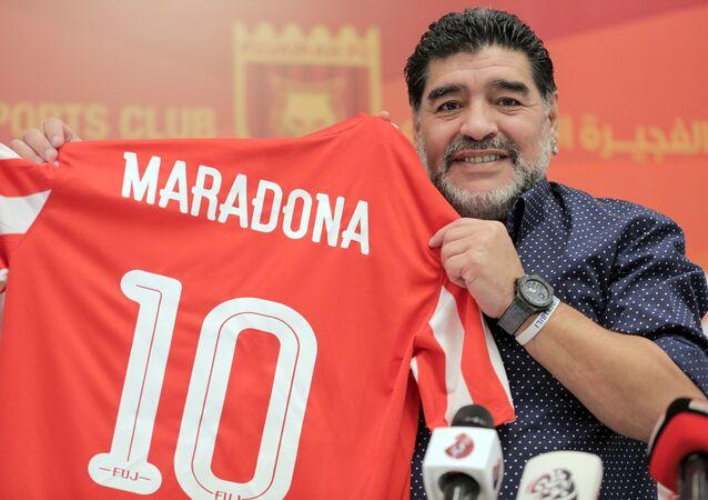 Bývalý argentinský fotbalista Diego Maradona