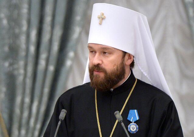 Předseda oddělení vnějších církevních vztahů moskevského patriarchátu, metropolita Ilarion Alfejev