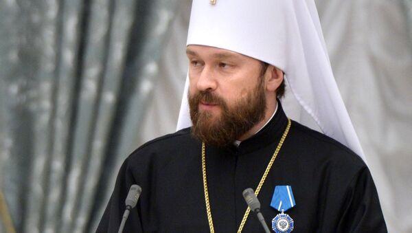 Předseda oddělení vnějších církevních vztahů moskevského patriarchátu, metropolita Ilarion Alfejev - Sputnik Česká republika
