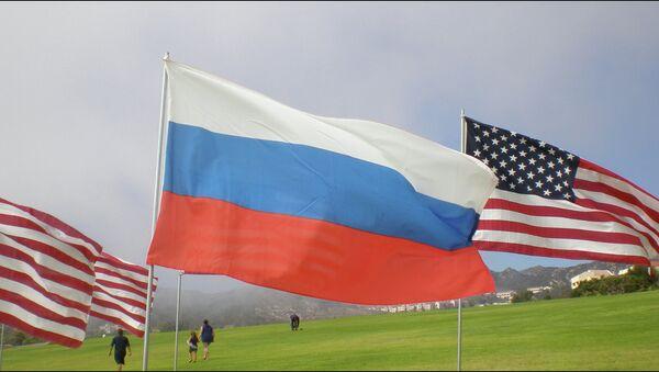 Vlajky USA a Ruska - Sputnik Česká republika