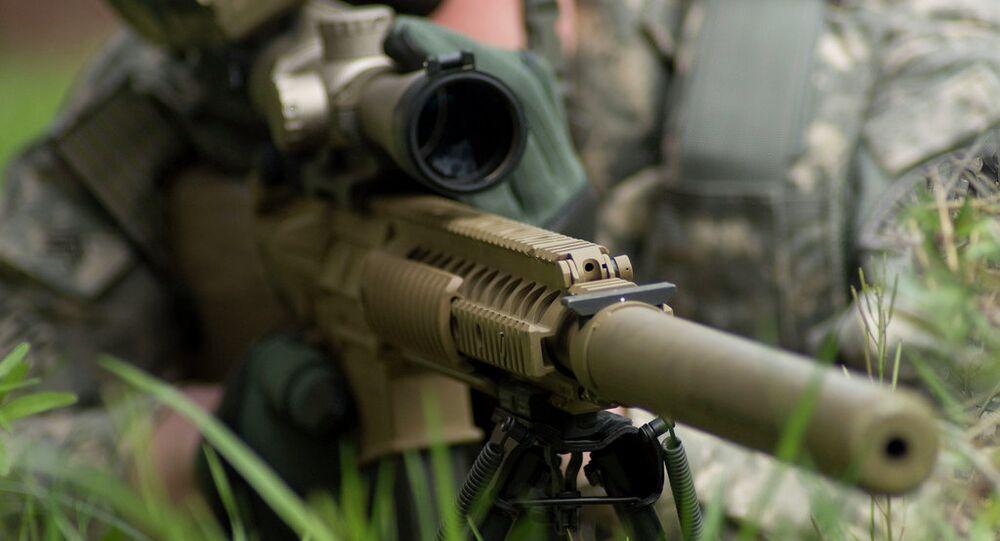 Odstřelovačská puška M110 Semi-Automatic Sniper System (SASS).
