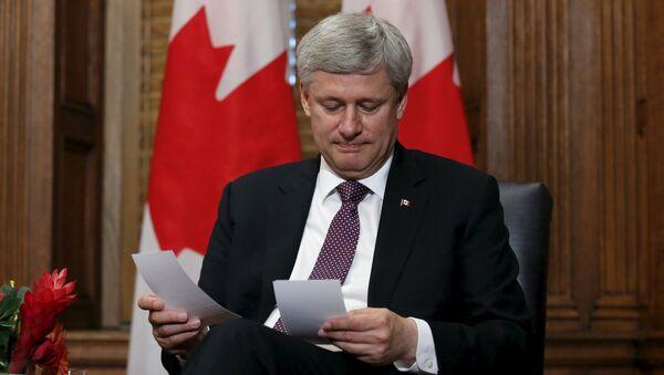 Kanadský premiér Stephen Harper - Sputnik Česká republika
