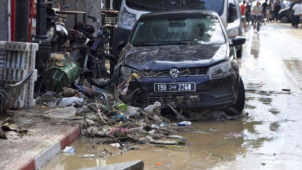 Následky prudkých dešťů v Tunisku. Ilustrační foto - Sputnik Česká republika