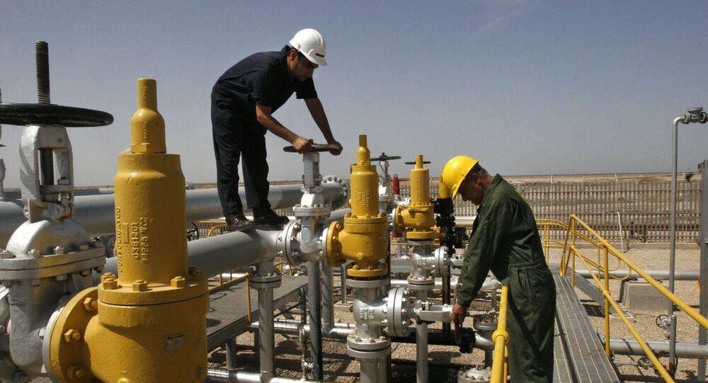 Těžba ropy v Íránu