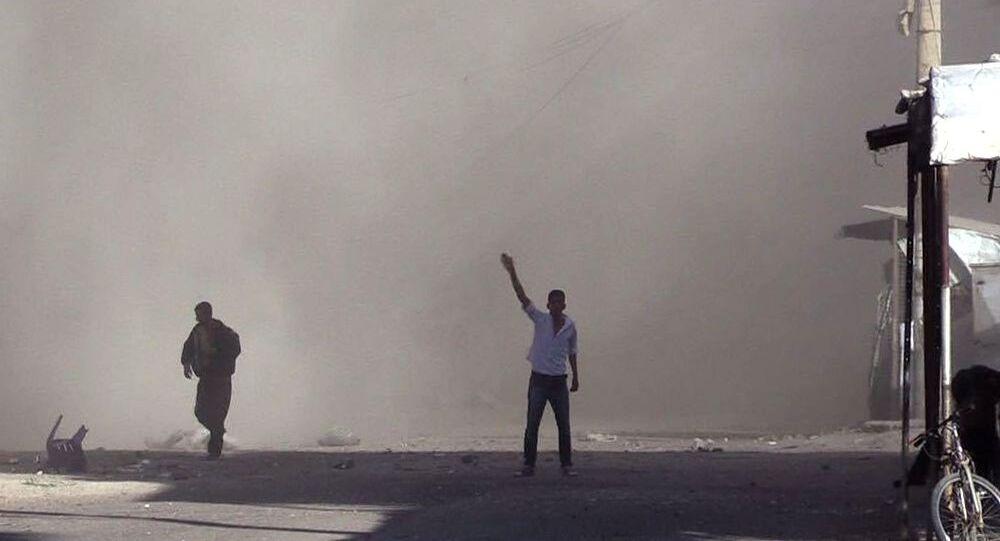 Raketový útok v Dajr az-Zauru. Ilustrační foto