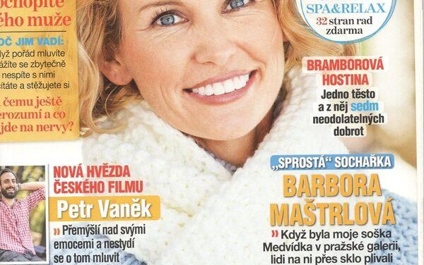 Obálka časopisu Vlasta - Sputnik Česká republika