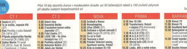 Detail stránky z časopisu Vlasta s TV programem od 22. 10. – 28. 10. - Sputnik Česká republika