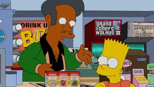 Postavy seriálu Simpsonovi – Apu Nahasapeemapetilon a Bart Simpson - Sputnik Česká republika