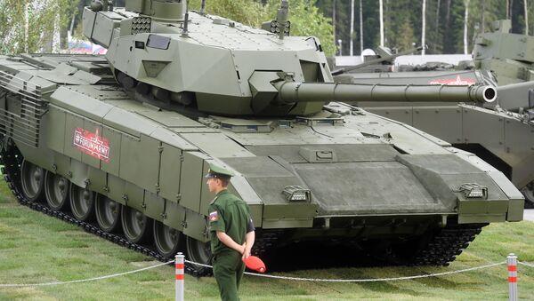 Tank T-14 Armata na vojensko-technickém fóru ARMY 2018 - Sputnik Česká republika