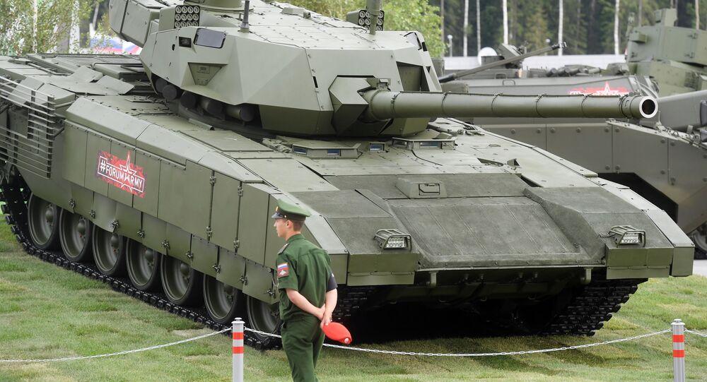 Tank T-14 Armata na vojensko-technickém fóru ARMY 2018