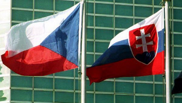 Vlajky České republiky a Slovenské republiky - Sputnik Česká republika