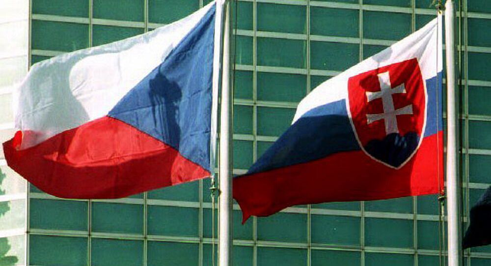 Vlajky České republiky a Slovenské republiky