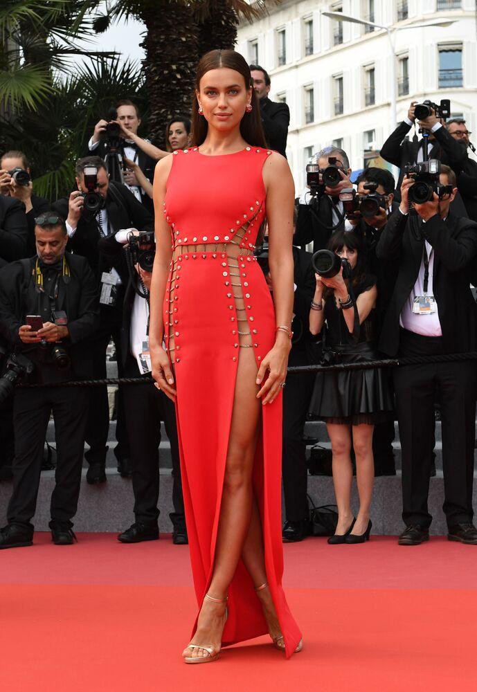Modelka Irina Shayk na 71. ročníku filmového festivalu v Cannes