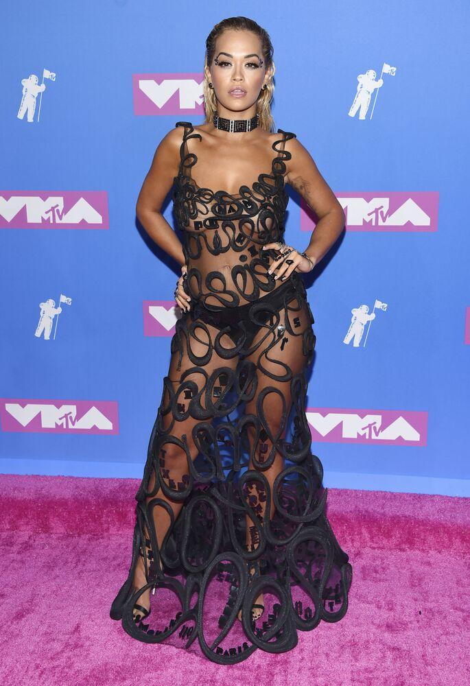 Zpěvačka Rita Ora na slavnostním vyhlášení cen MTV Video Music Awards v New Yorku