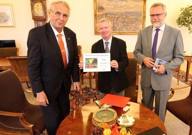 Miloš Zeman a Karel Sýs. Archivní foto