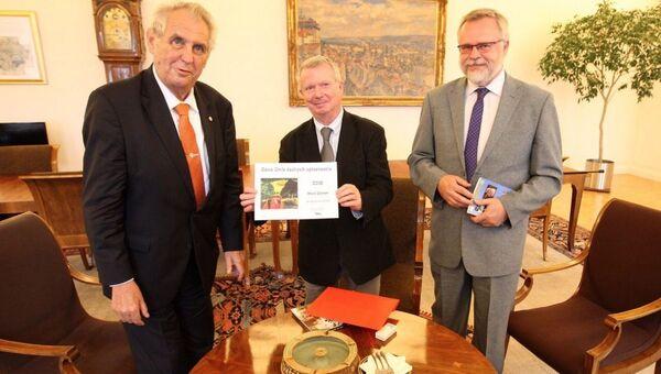 Miloš Zeman a Karel Sýs. Archivní foto - Sputnik Česká republika