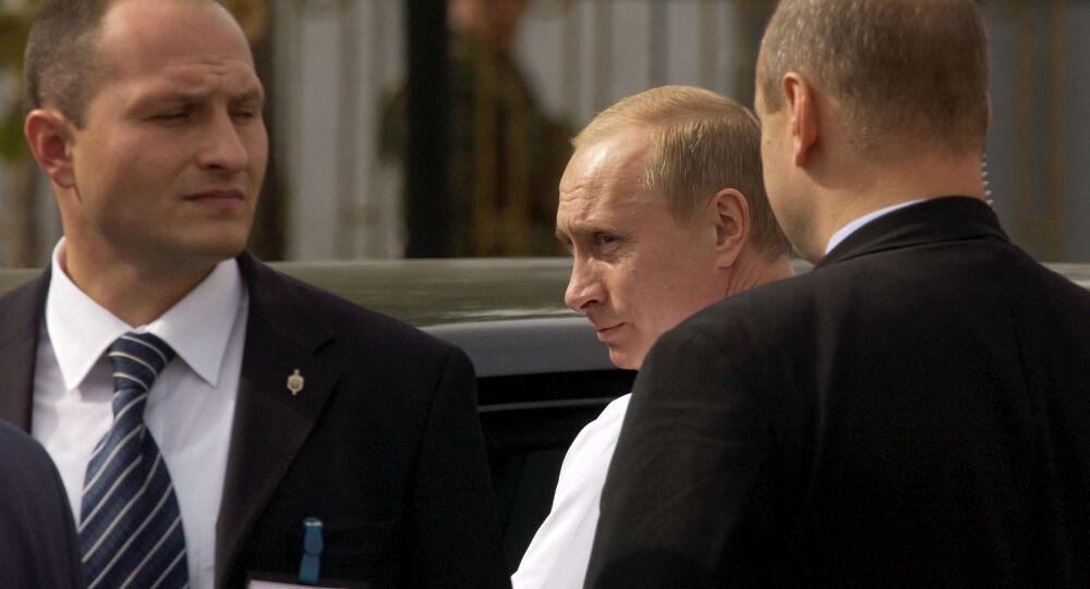 Ruský prezident Vladimir Putin a jeho ochranka