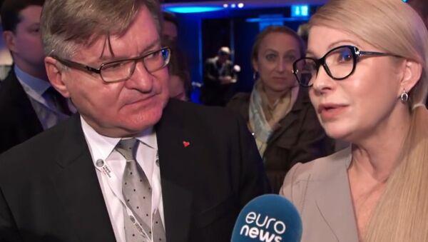 """Tymošenková v rozhovoru pro Euronews: """"Krymská zeď"""" padne stejně jako ta Berlínská - Sputnik Česká republika"""