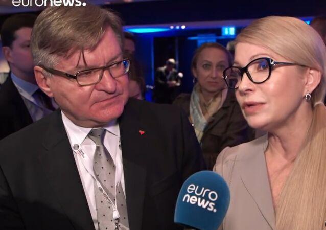 """Tymošenková v rozhovoru pro Euronews: """"Krymská zeď"""" padne stejně jako ta Berlínská"""
