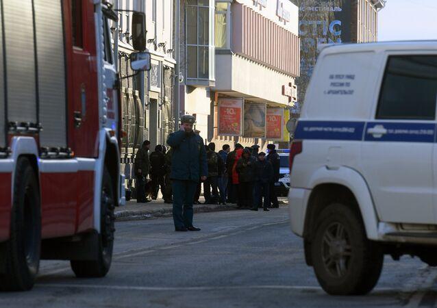 U budovy FSB v Archangelsku došlo k výbuchu. Místo události