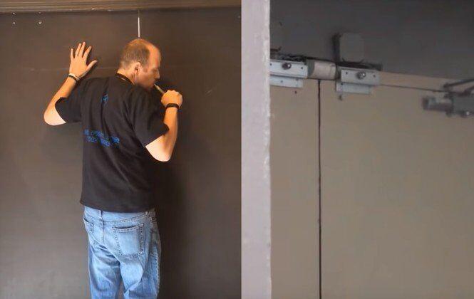 Jak pomocí dýmu otevřít automatické dveře