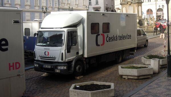 Vůz České televize. Ilustrační foto - Sputnik Česká republika