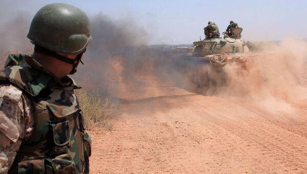 Syrská armáda nedaleko Aleppa - Sputnik Česká republika