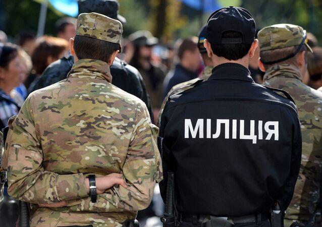 Příslušníci ukrajinských policejních organů
